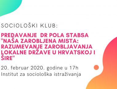 Sociološki klub: predavanje  dr Pola Stabsa