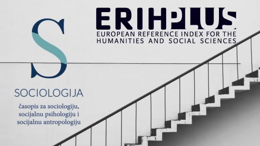 Journal 'Sociologija' indexed in ERIH PLUS